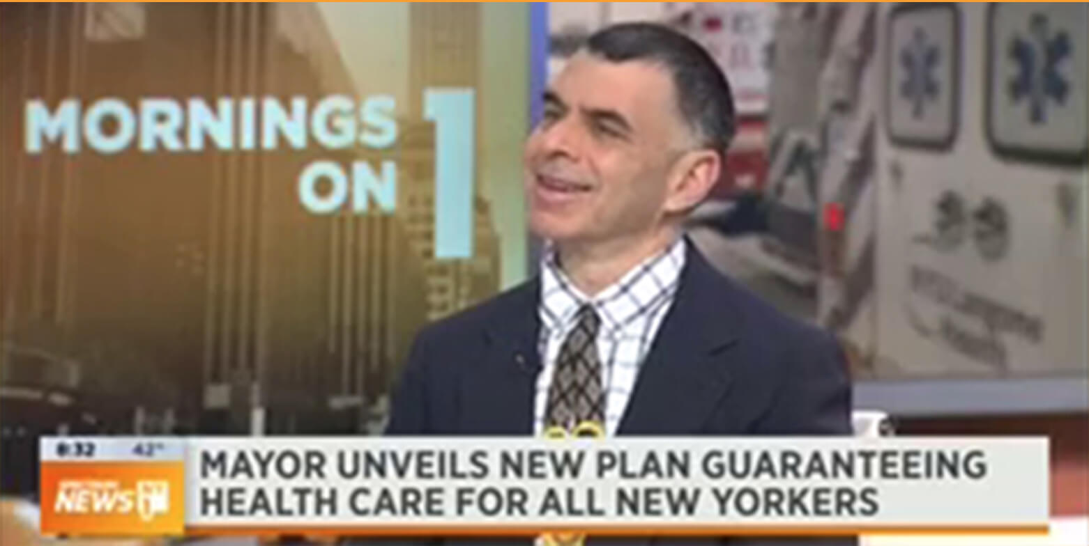 Mayor de Blasio's plan to expand health coverage to 600,000 people
